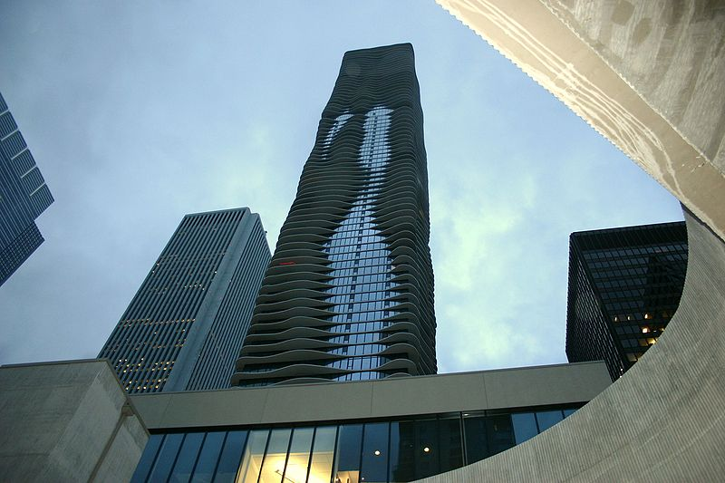 Il grattacielo Aqua Tower di Chicago (USA)