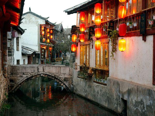 Lanterne rosse, città vecchia di Lijiang (autore: Andrea  Pistolesi, Getty Images)