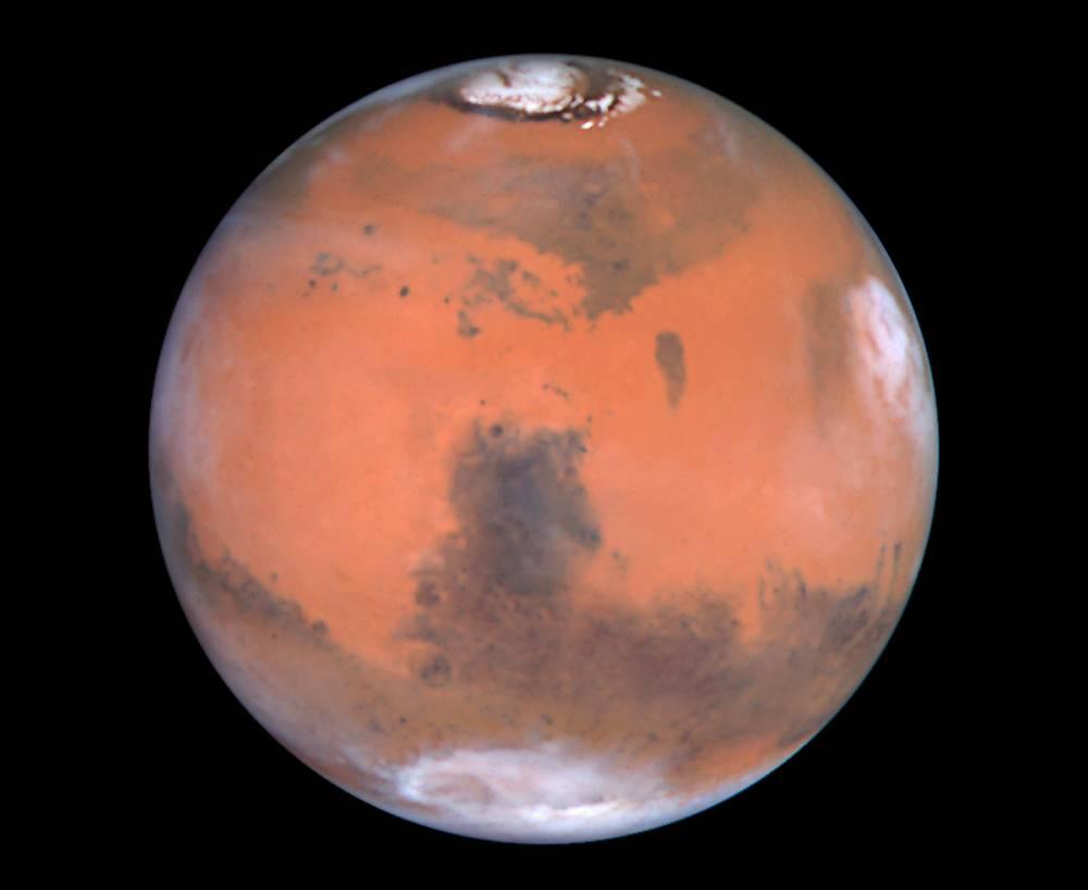 Immagine di Marte, nel testo un link ad una galleria fotografica dedicata al pianeta rosso