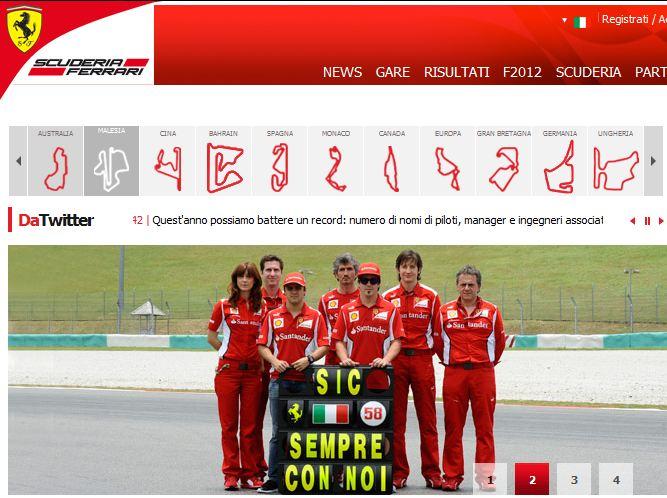 Sic, sempre con noi: l'omaggio della Ferrari a Marco Simoncelli