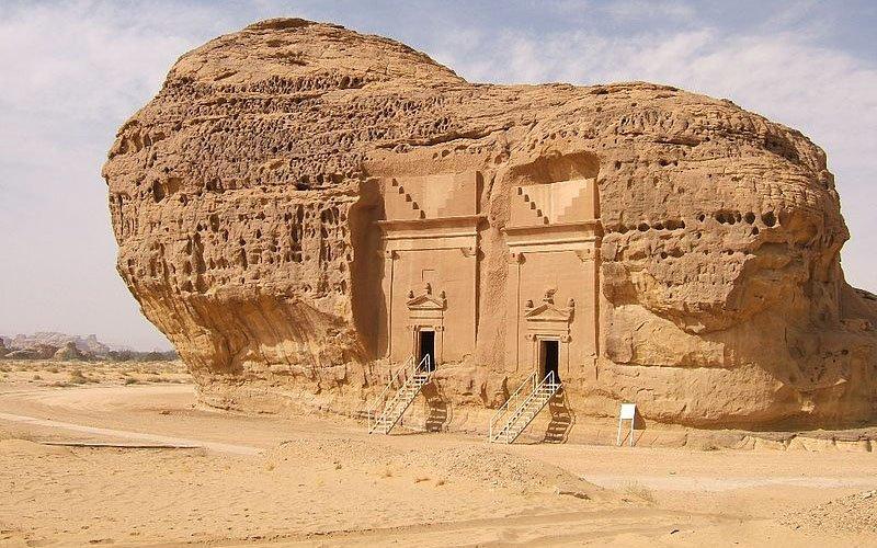 Foto di Mada'in Salih sito Unesco di origine nabatea in Arabia Saudita