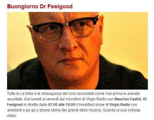Buongiorno Dr Feelgood, il dottore della positività a tempo di rock