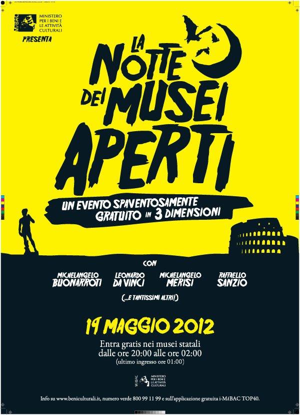 Manifesto della Notte dei Musei Aperti 2012 in Italia!