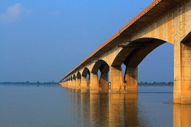Il ponte dedicato al Mahatma Gandhi proprio nel Bihar, è lungo quasi 6km