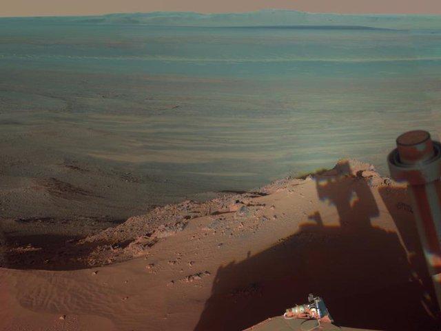 Il blu canyon di Marte!