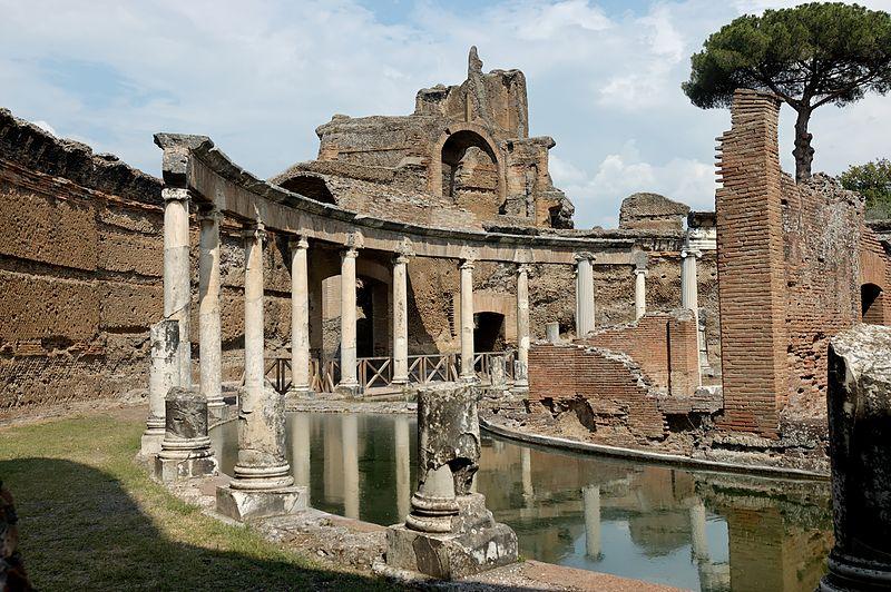 Villa Adriana a Tivoli, che ha rischiato di essere tramortita da una nuova discarica