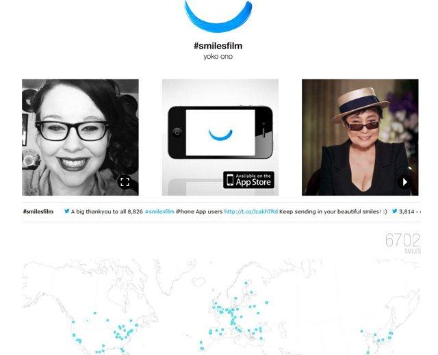 SmileFilm: L' opra d'arte definitiva di Yoko Ono