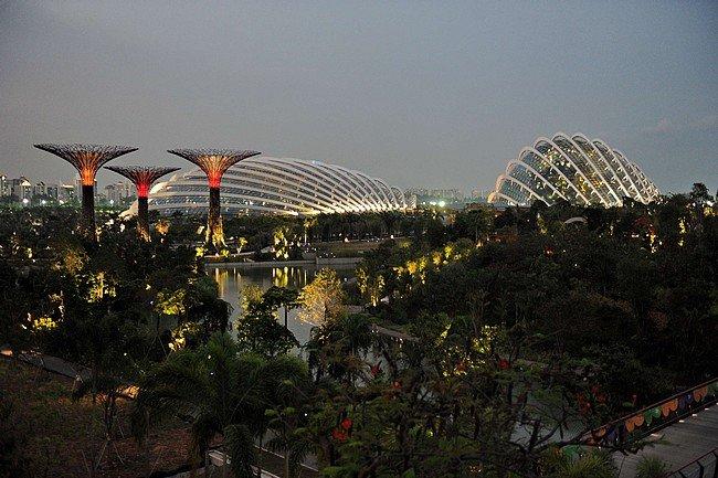 I super alberi di Singapore nel grande Parco