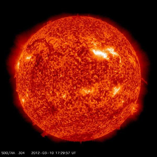 Tempesta Solare del 10 Marzo 2012, foto del Sole!